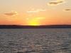 Päikeseloojang Balatoni järvel
