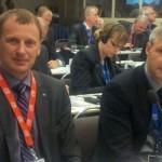 Tõnis Kõiv ja Erki Nool 2012 a oktoobris Quebecis.