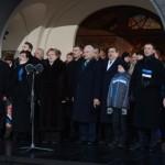 Lipuheiskamise tseremoonia Toompeal. Foto Andres Haabu (PM)