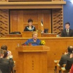 Vastvalitud Riigikogu esimehe Ene Ergma tänukõne