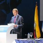 Eesti sõnumit edastamas IPU pea-assambleel. Foto: Leedu asespiiker Vytautas  Gapsys