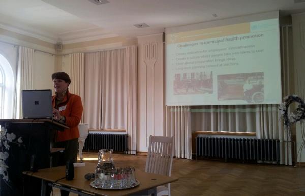 Vahetult enne mind kõneles Johanna Reiman, Tervislike linnade Baltikumi tegevjuht