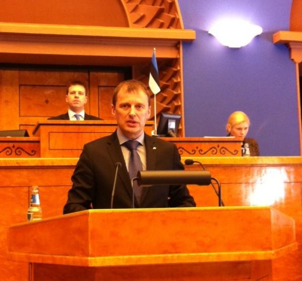 Kõnelemas jahiseaduse vastuvõtmise eel