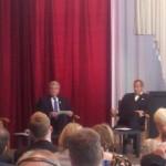 Saksa president Joachim Gauck ja Eesti president Toomas H Ilves Okupatsioonide muuseumis
