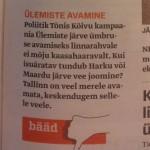 Eesti Ekspressi bääd 5.septembrist 2013