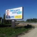 Välireklaam Vana-Tartu maantee ristis