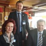 Läti Seimi spiiker pr Aboltina, Tõnis Kõiv ja Leedu IPU delegatsiooni juht, endine asespiiker Vytas Gapsys