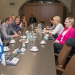 Kohtumine Eesti ja Soome IPU delegatsioonide vahel. Foto: E.Peinar