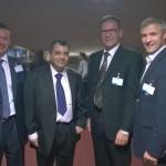 Pildil Tõnis Kõiv, presidendikandidaat Saber H. Chowdhury, Soome kolleeg Pertti Hemmilä ja Erki Nool.