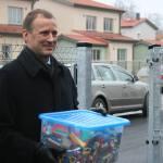 Viisin lasteaeda kastitäie legosid. Foto: E.Oras