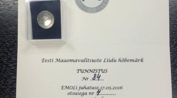 Eesti Maaomavalitsuste Liidu hõbemärk Mart Võrklaevale