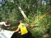 Meeskonnatöö jõe puhastamisel